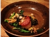 Diver scallops, brown butter kimchee, hazelnut rapini, avocado