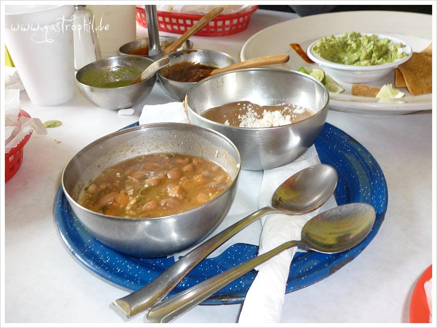 Bohnen und Refried Beans
