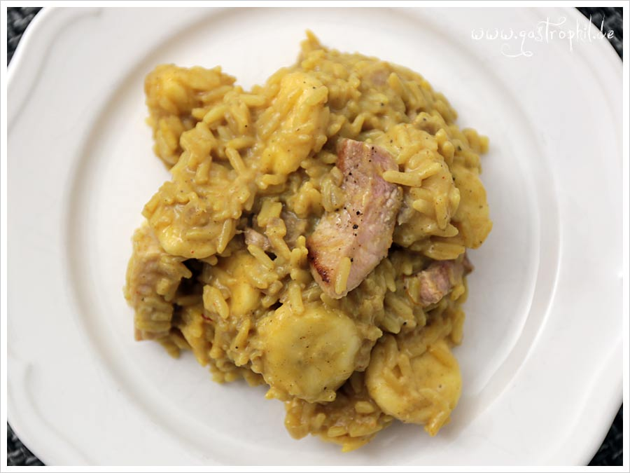 Curry reis bananen fleisch oder so gastrophil - Reis kochen quellmethode ...